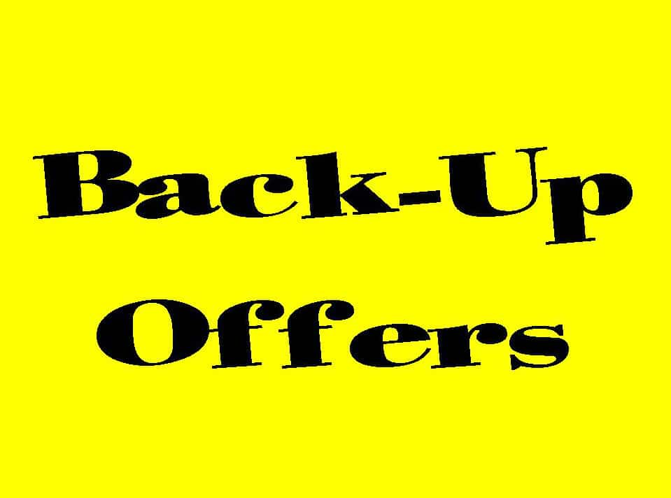 Tahoe Home Buyer – What is a Back-Up Offer?
