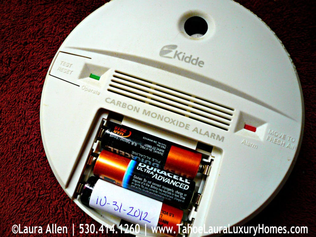 Tahoe Real Estate Winter Preparation Tips - Carbon Monoxide Alarm