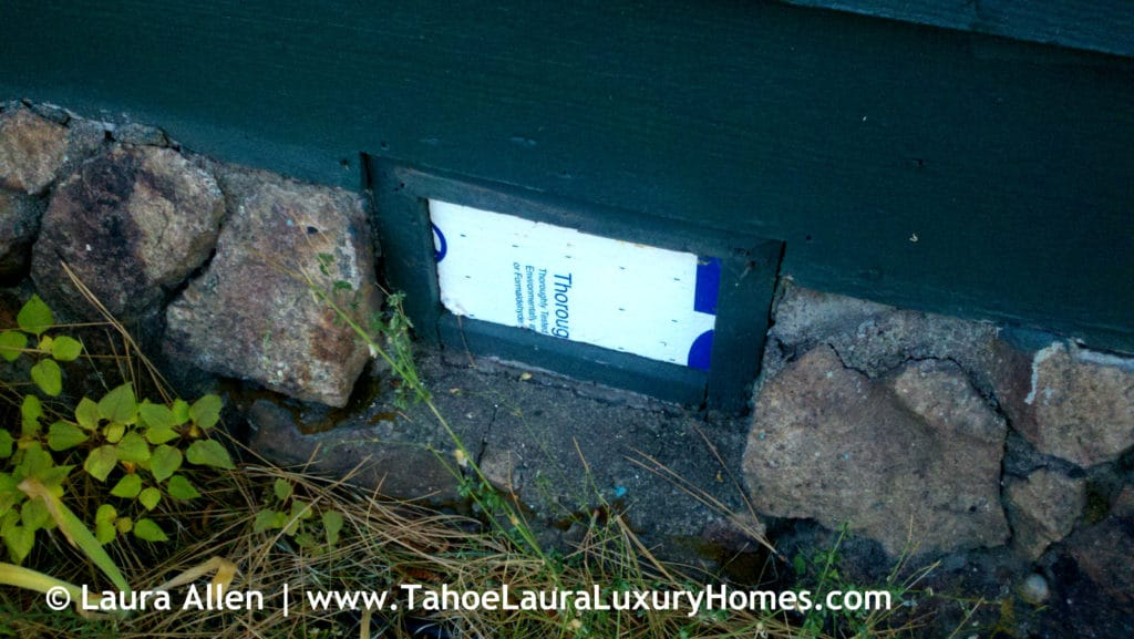 Tahoe Real Estate Winter Preparation Tips - Foundation Vent