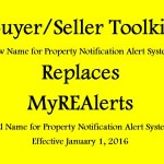 MyREAlerts is now Buyer/Seller Toolkit  – January 2016