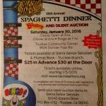 15th Annual Spaghetti Dinner – Sierra Senior Services, Jan 30, 2016