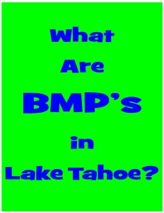 What is a BMP Certificate in Lake Tahoe?