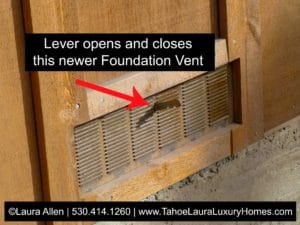 When should I open my foundation vents in Tahoe City?