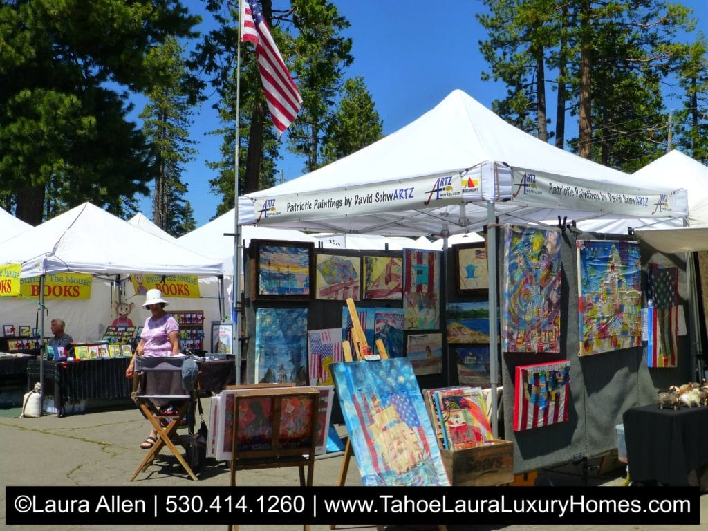 Summer arts and crafts fairs homewood ca 2017 lake tahoe for Arts and crafts fairs