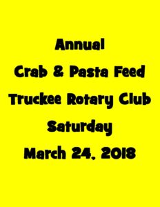 Crab and Pasta Feed - Truckee Rotary Club - March 24 2018