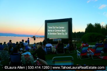 Summer Movies on the Beach Tahoe City 2018 Schedule