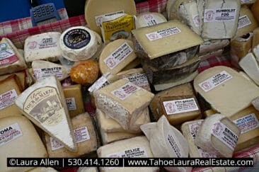 Cheeses for Sale at the local farmers market