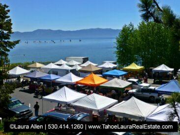 Farmers Market in Downtown Tahoe City, California